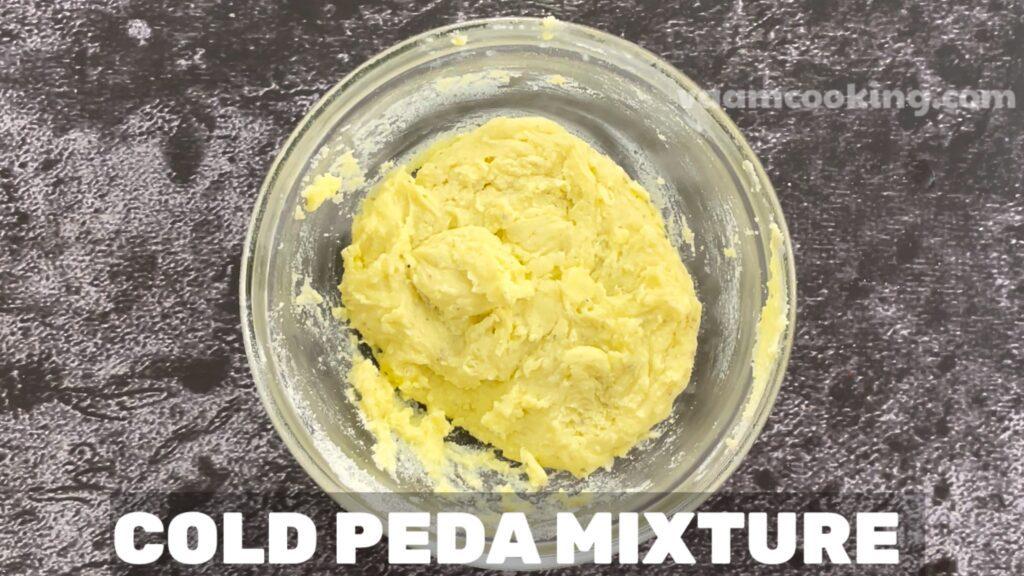 Instant peda cold peda mixture