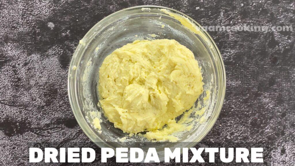 Instant peda dried peda mixture