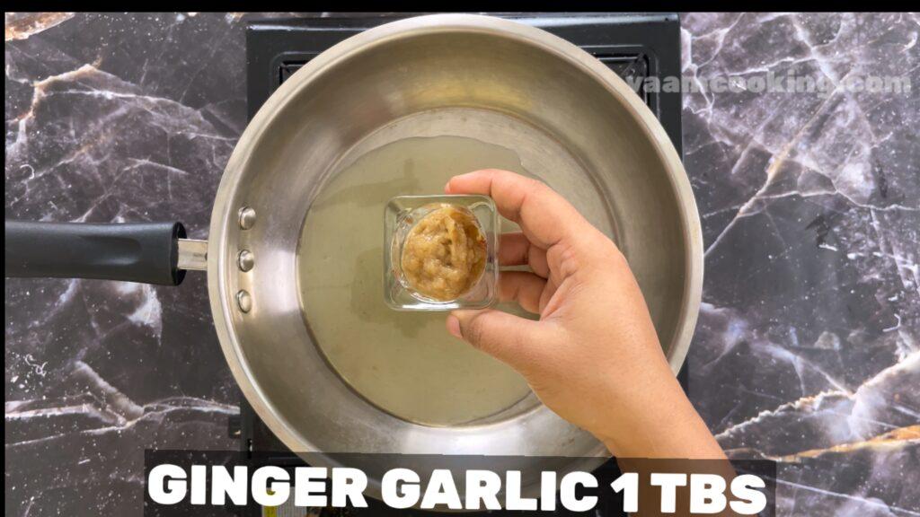 baby corn manchurian-ginger and garlic paste