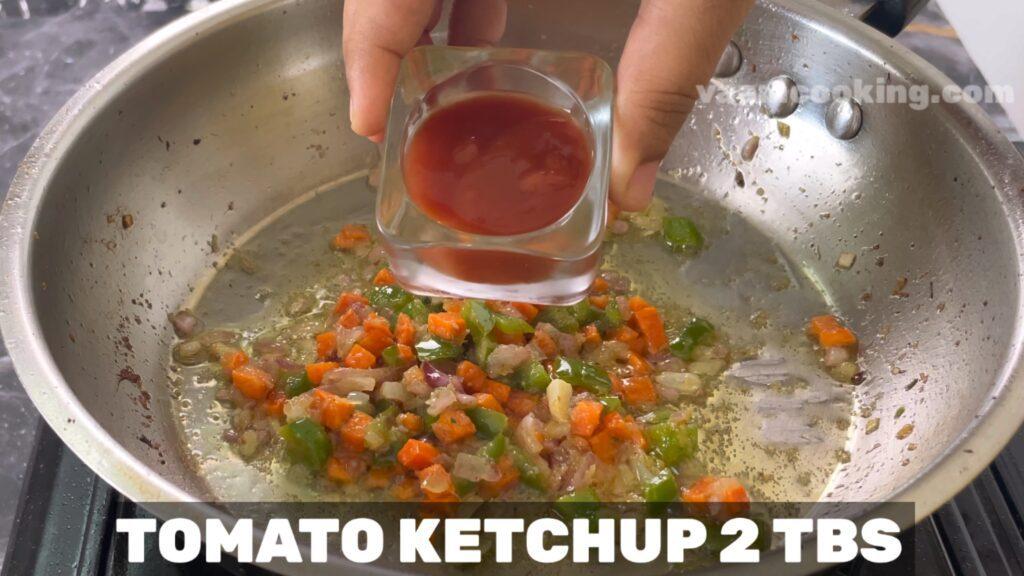 baby corn manchurian-tomato ketch up