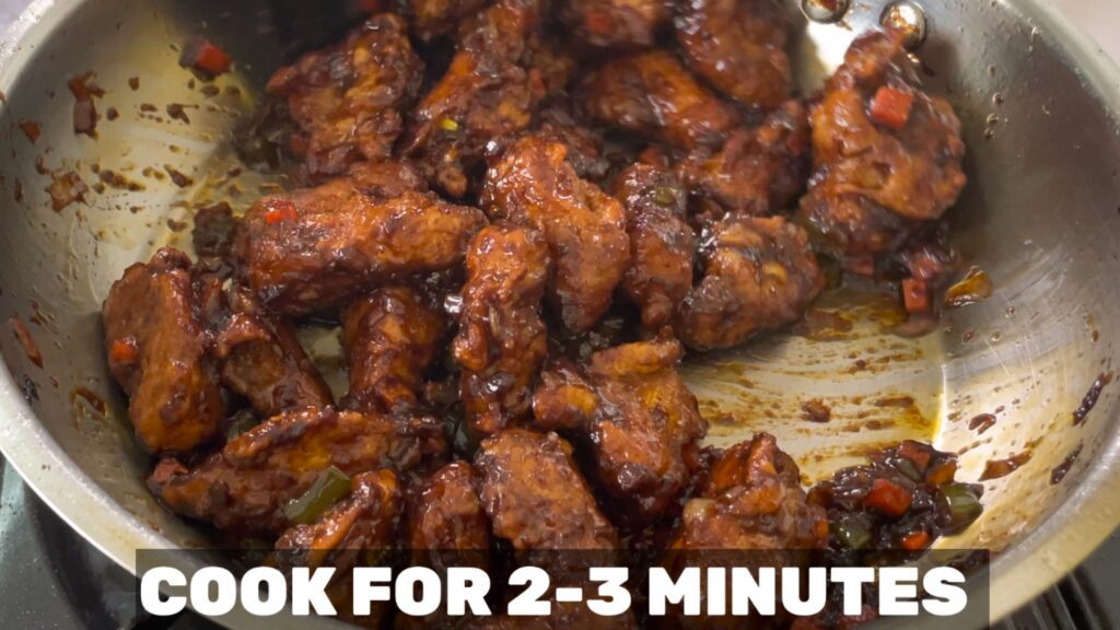 baby corn manchurian-cook for 2-3 minutes
