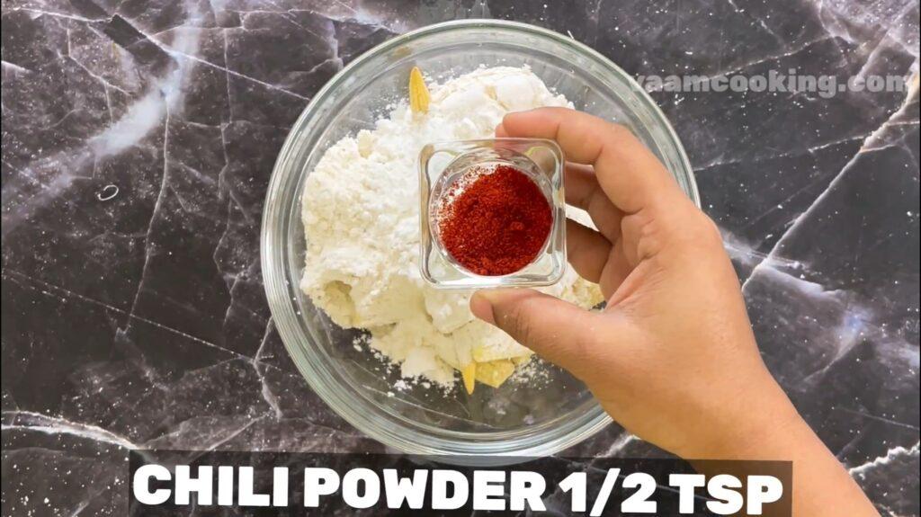 baby corn manchurian -chili powder