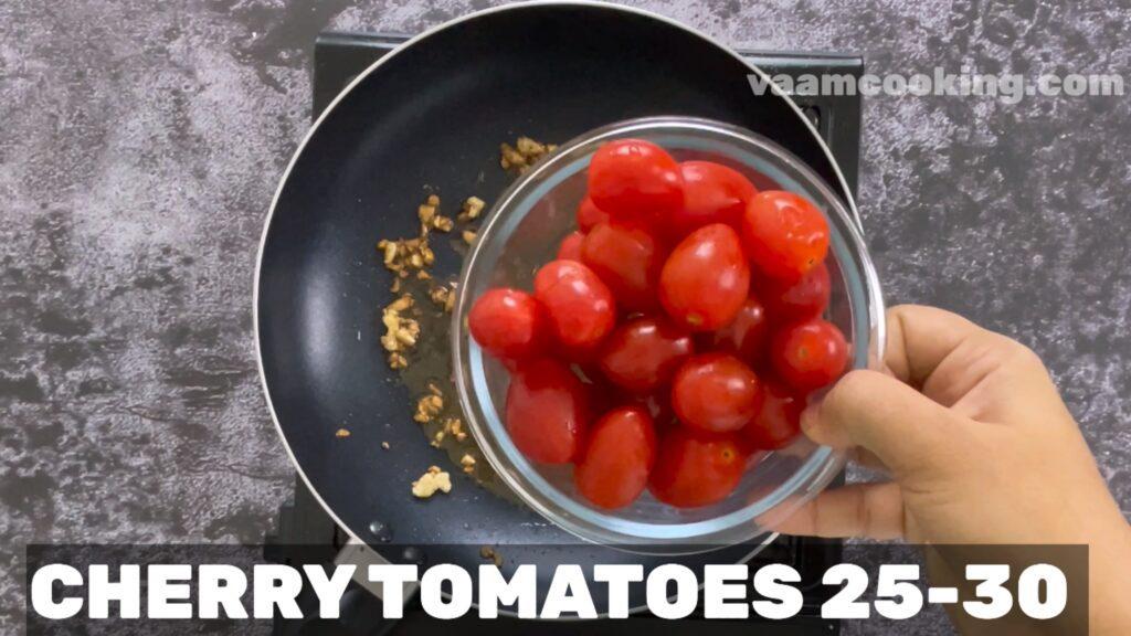sauteed cherry tomaoes with garlic & basil- cherry tomatoes